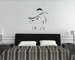 Adesivo murale-donna di stile