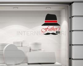 Adesivo per vetrine-father's day