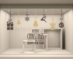 Vetrofania-Merry Christmas & happy new year