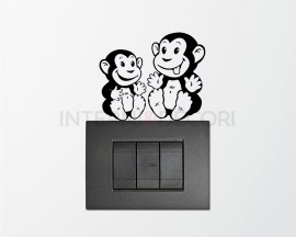 Mini sticker murale-scimmiette dispettose