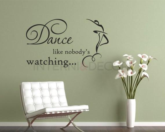 Adesivo murale-dance like nobody's watching