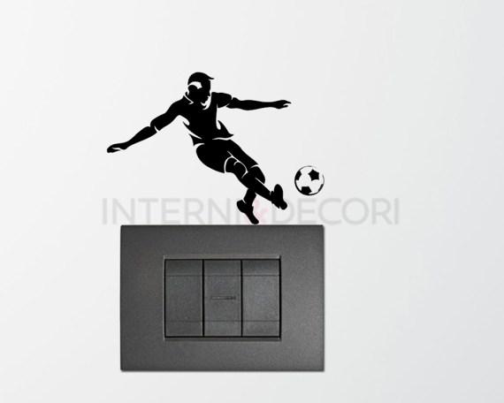 Giocatore che calcia la palla-Mini sticker murale