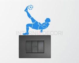 Mini sticker murale-calciatore in rovesciata