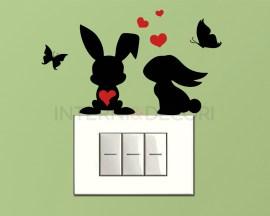 Mini sticker murale-coniglietti innamorati