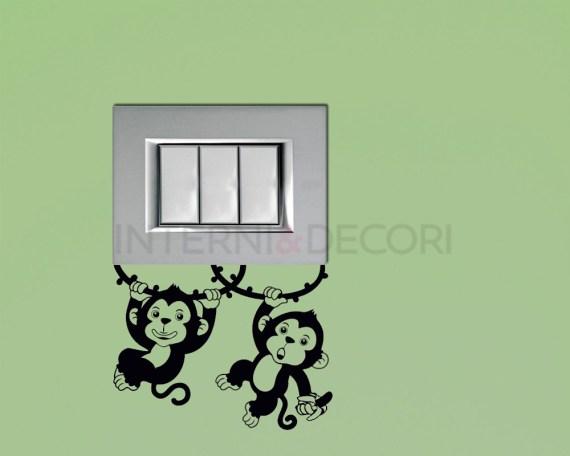 Mini sticker murale-scimmiette sulle