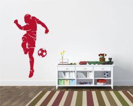 Adesivo murale-goleador che tira in porta