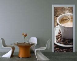 Adesivo per porte-il caffè è servito