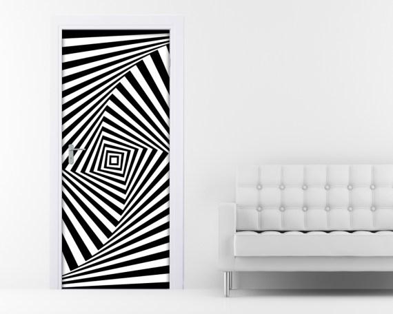 Adesivo per porte-optical illusion