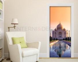 Adesivo per porte-Il Taj Mahal di Agra