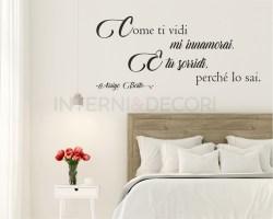 Come ti vidi mi innamorai..-Adesivo murale Arrigo Boito
