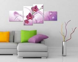 Stampa su tela-quadro moderno-Orchidee rosa