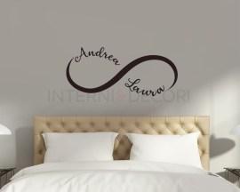Adesivo murale con nome-amore eterno-adesivo da parete infinity