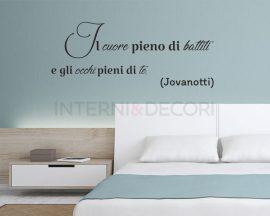 Adesivo murale-Le tasche piene di sassi-adesivo da parete frase Jovanotti