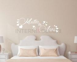adesivo murale-nomi tra cuori-adesivo da parete amore