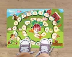 Tappeto adesivo-gioco dell'oca-adesivo per pavimenti