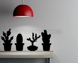 Adesivo murale cactus-sagome di piante