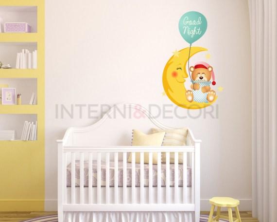 Good night sweet bear-adesivo murale