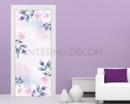 Delicate rose rosa-adesivo per porte fiori
