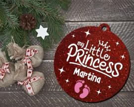 Decorazioni a taglio laser-my little princess-pallina personalizzata con nome