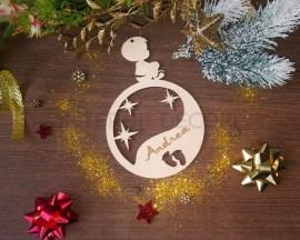 Babbo Natale-decorazione legno a taglio laser