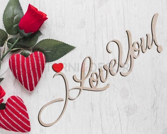 Decorazioni taglio laser-I love you-scritta in legno amore