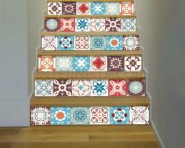 Decorazione per scale-azulejos portoghesi-Adesivo per scale