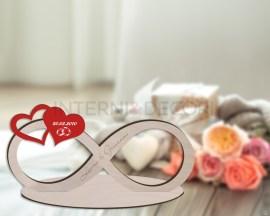 Decorazione laser legno-infinito San Valentino in legno