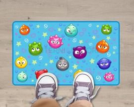 Adesivo per pavimento-quante bollicine!-appeto adesivo per bambini