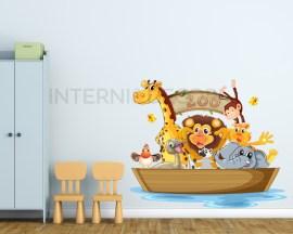 Sull'arca di Noè-adesivo murale bambini
