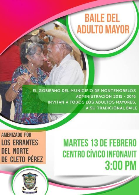 BAILE DEL ADULTO MAYOR EN MONTEMORELOS, N.L.