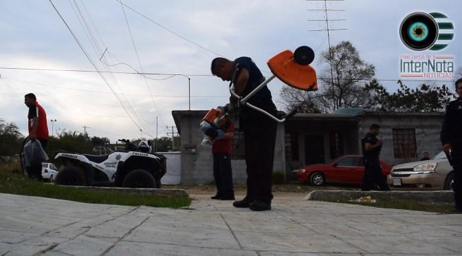 CONTINÚAN CON ACTIVIDADES DE POLICÍA COMUNITARIA EN, COLONIA VALLE LOS DURAZNOS.