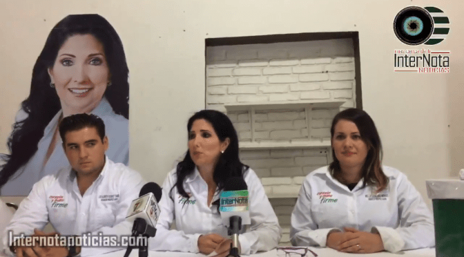 PATRICIA SALAZAR CANDIDATA A ALCALDÍA DE ALLENDE REALIZA RUEDA DE PRENSA CON MOTIVO DE INICIO DE CAMPAÑA