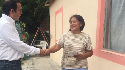 RAPHAEL MARTÍNEZ REALIZA RECORRIDO POR CONGREGACIÓN MARGARITAS, SANTIAGO, N.L.