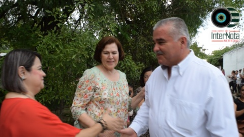 CANDIDATO ELEUTERIO VILLAGOMEZ, VISITA LA HACIENDA OJO DE AGUA, GENERAL TERAN, N.L