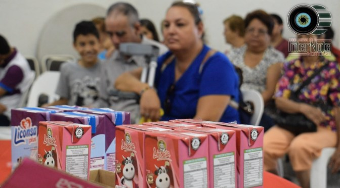 REALIZAN ENTREGA DE LECHE LICONSA EN EL DIF MUNICIPAL DE SANTIAGO, N.L.