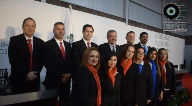 ING. JAVIER CABALLERO GAONA REALIZA TOMA DE PROTESTA AL RELEGIRSE COMO ALCALDE POR EL MUNICIPIO DE SANTIAGO, N.L ADMINISTRACION 2018-2021.