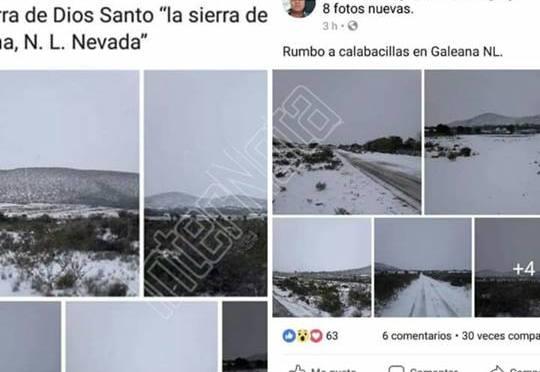 DESCARTA PROTECCIÓN CIVIL CAÍDA DE NIEVE EN EL MUNICIPIO DE GALEANA.