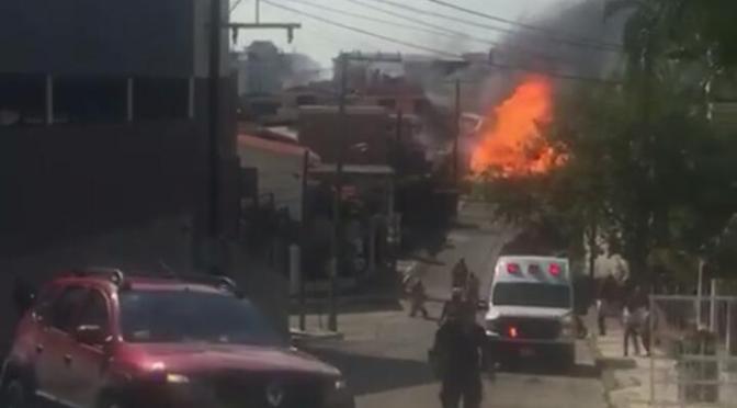 TANQUE DE GAS BUTANO EXPLOTA EN TAMPICO