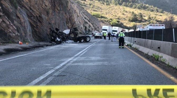 CHOFER MUERE CALCINADO EN TRAGICO ACCIDENTE.