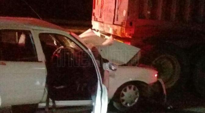 FUERTE ACCIDENTE DEJA 4 PERSONAS LESIONADAS.