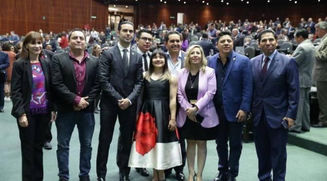 ENTREGAN EN CAMARA DE DIPUTADOS MEDALLA AL MERITO DEPORTIVO 2019 A LA GIMNASTA OLIMPICA ALEXA CITLALI MORENO MEDINA.