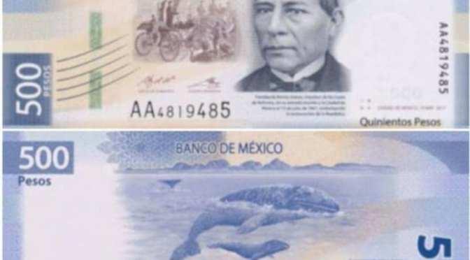 BILLETE DE 500 PESOS UNO DE LOS MAS BONITOS DEL MUNDO