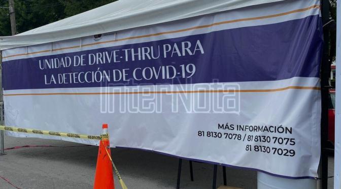 INSTALAN UNIDAD DE DRIVE-THRU PARA LA DETECCIÓN DE COVID-19