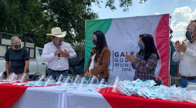 LA ALCALDESA DE GALEANA N.L. ALEJANDRA RAMÍREZ AGRADECIÓ AL DIPUTADO FEDERAL POR EL DISTRITO 9, JUAN ESPINOZA EGUÍA POR DONAR CARETAS Y CUBREBOCAS AL PERSONAL DE SERVICIOS PRIMARIOS PARA QUE DESARROLLEN SUS LABORES EN ESTA CONTINGENCIA SANITARIA.