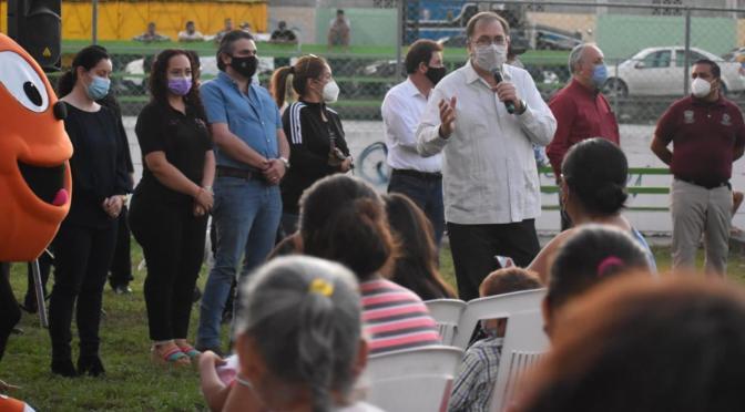AUTORIDADES MUNICIPALES PRESENTAN INFORME SOBRE ESTE SEGUNDO AÑO DE TRABAJO A LAS COLONIAS DE MONTEMORELOS, N.L.