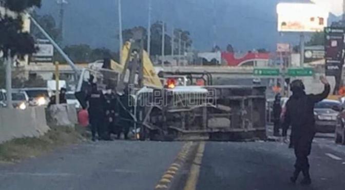 SE REPORTA FUERTE ACCIDENTE VIAL SOBRE CARRETERA NACIONAL KM 268 A LA ALTURA DE LA ESTANZUELA EXTREME PRECAUCIONES.