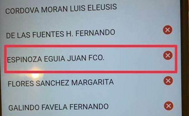 #VOTAN JUAN ESPINOZA EGUÍA EN CONTRA.