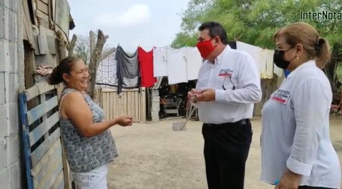 CANDIDATO A LA ALCALDÍA DE GRAL. TERÁN N.L. POR EL PRI, CALLETANO SILVA LLEVA A CABO RECORRIDO EN LA COMUNIDAD ANACUITAS.