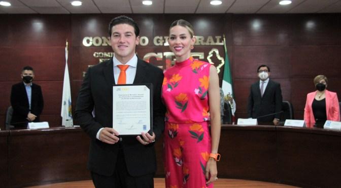 SAMUEL GARCÍA RECIBE CONSTANCIA COMO GOBERNADOR ELECTO DE NUEVO LEÓN.