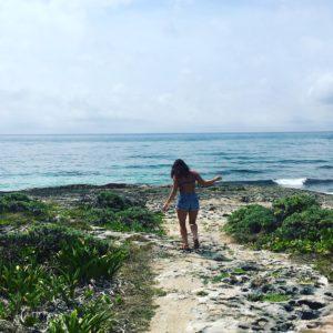 Exploring the endless coastline of Cozumel.